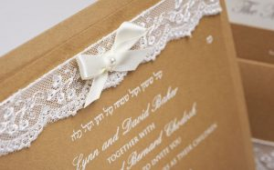 Luxury Lace and Pearl Wedding Invitation