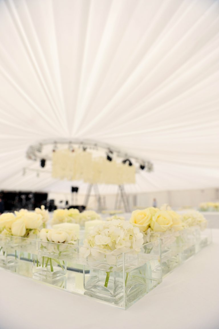 wedding marquee at bramham park