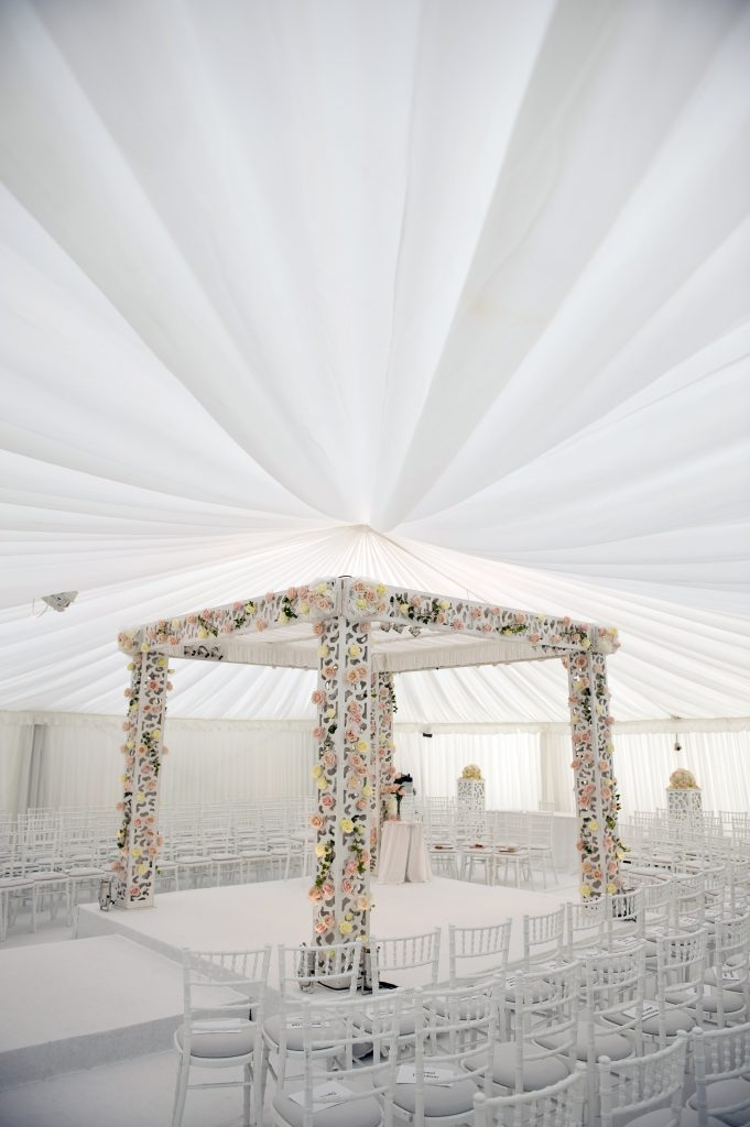 wedding marquee chuppah at bramham park